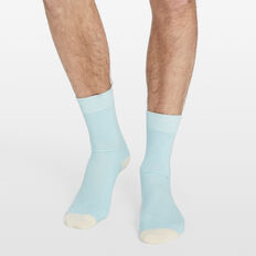 EMBROIDERED FLAMINGO 1PK SOCKS  PALE BLUE  hi-res