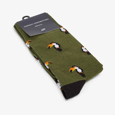 TOUCAN 1PK SOCKS  OLIVE  hi-res