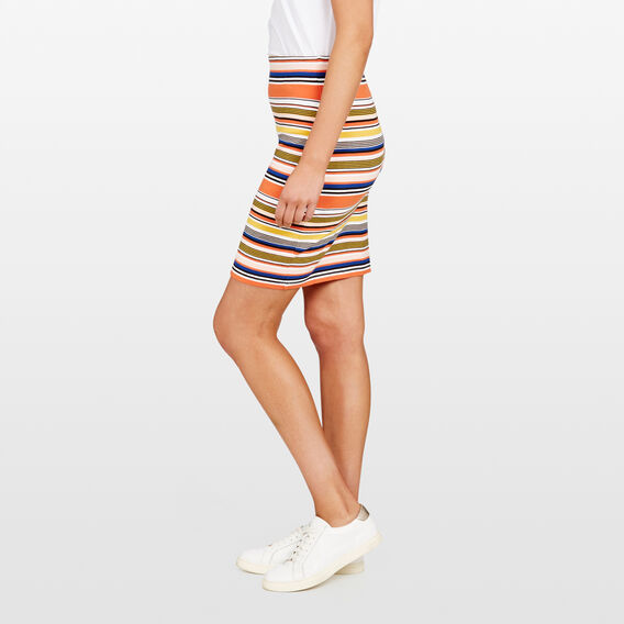 STRIPE BODY CON SKIRT  MULTI  hi-res