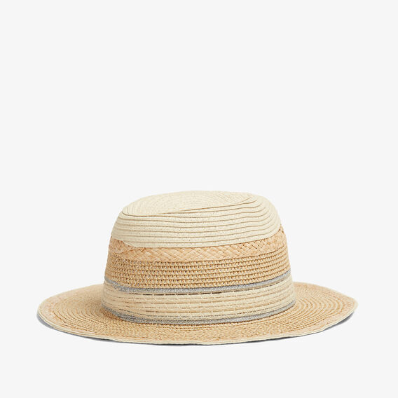 METALLIC STRAW HAT  MULTI  hi-res