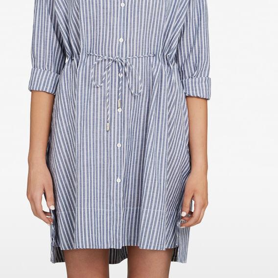 STRIPE LONGSLEEVE SHIRT DRESS  INDIGO/SUMMER WHITE  hi-res
