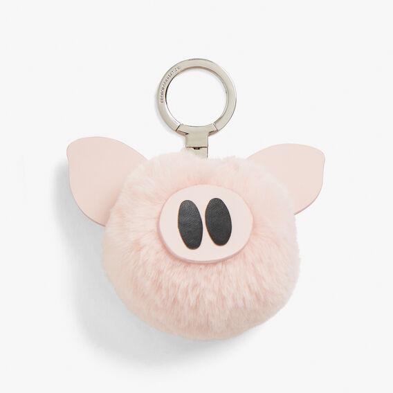 POM PIG KEYRING  PINK/GOLD  hi-res