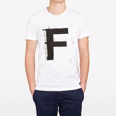 DIVING 'F' CREW NECK T-SHIRT  WHITE  hi-res