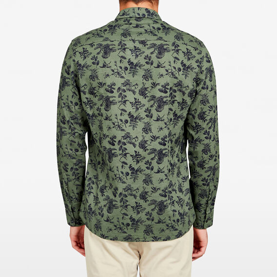 SAFARI PRINT LINEN REGULAR FIT SHIRT  LIGHT PINE GREEN  hi-res