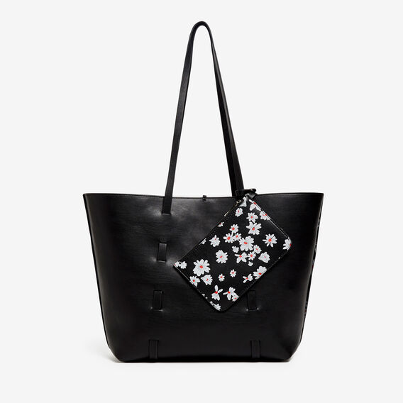 DAISY REVERSIBLE TOTE  BLACK/MULTI  hi-res