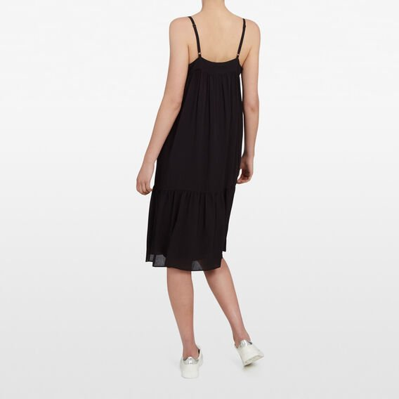 ALL DAY TIERED DRESS  BLACK  hi-res