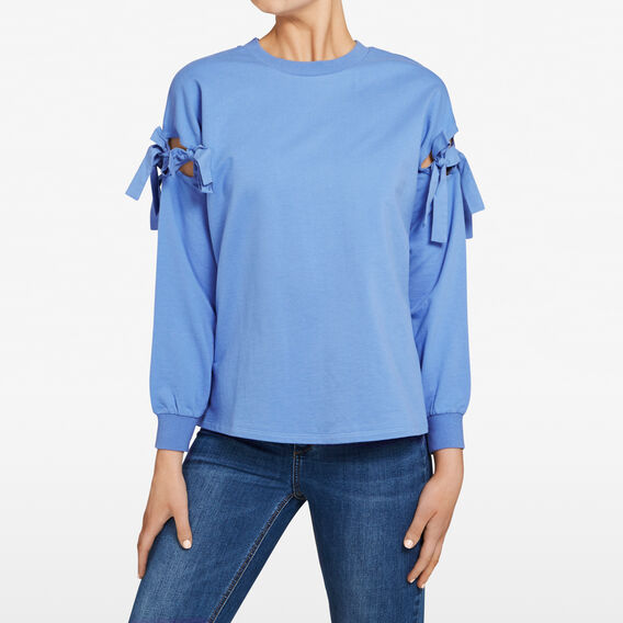 TIE SLEEVE SWEAT  PASTEL BLUE  hi-res