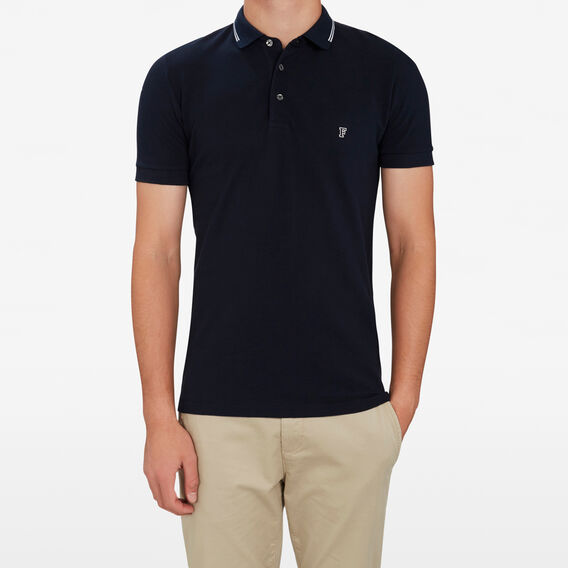 TIPPING POLO  MARINE BLUE/WHITE  hi-res