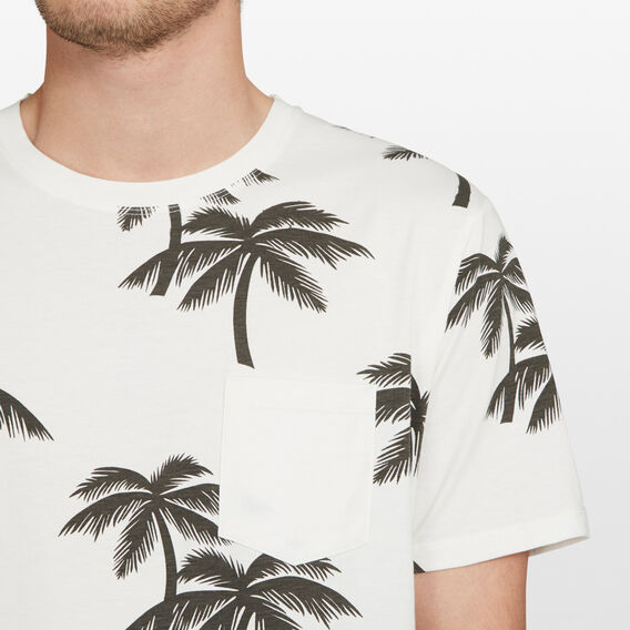 PALM TREE RELAXED FIT T-SHIRT  OFF WHITE  hi-res