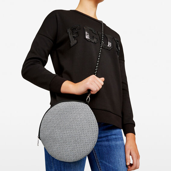 NEOPRENE ROUND BAG  GREY MARLE  hi-res