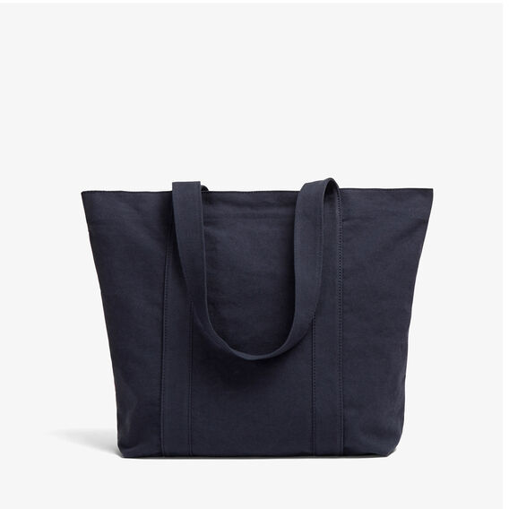 WASHED COTTON TOTE BAG  WASHED BLUE  hi-res