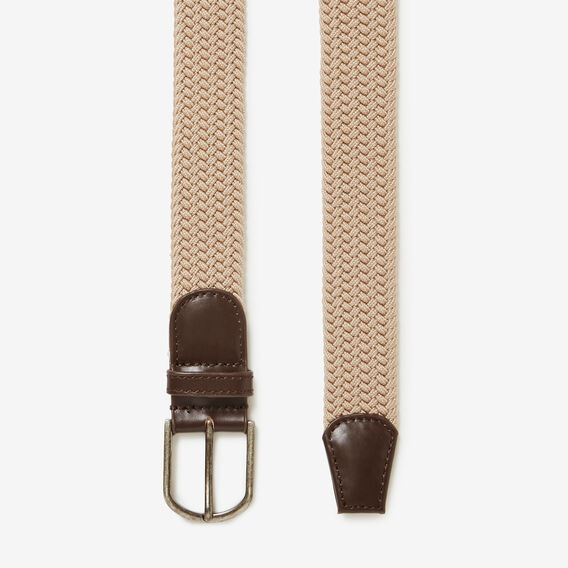 PLAITED BELT  OATMEAL  hi-res