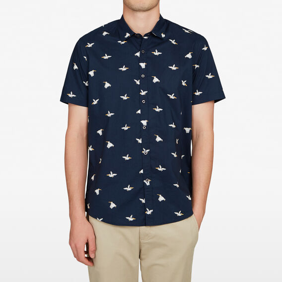 FLYING PELICAN CLASSIC FIT SHIRT  MARINE BLUE  hi-res