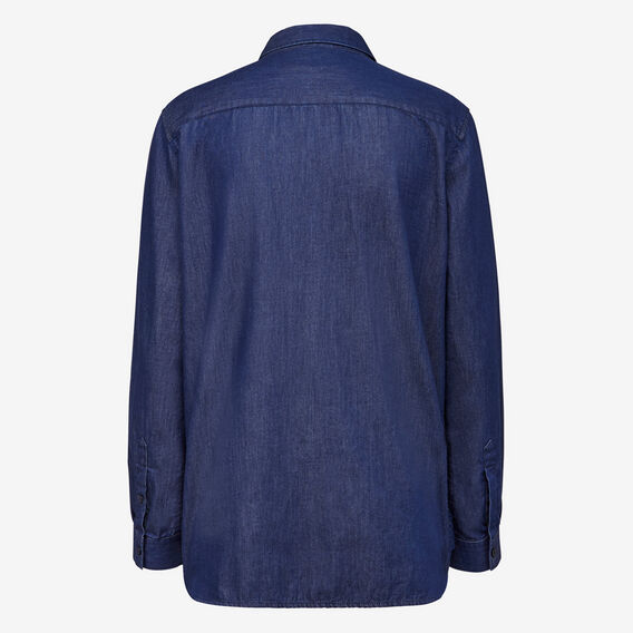 LIGHTWEIGHT DENIM SHIRT  INDIGO  hi-res