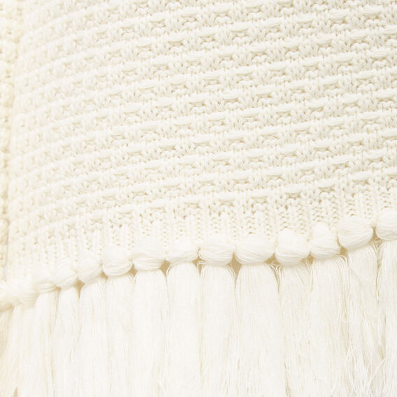 TASSEL HEM ROLL NECK KNIT  WINTER WHITE  hi-res