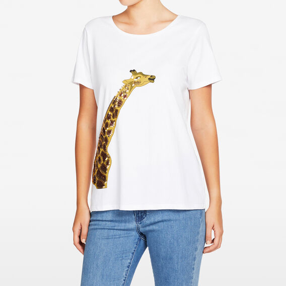 GIRAFFE PLACEMENT TEE  SUMMER WHITE/MULTI  hi-res