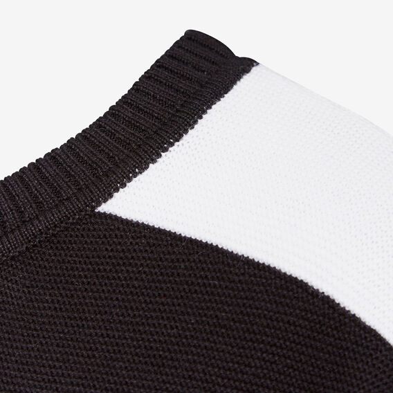 SPORTS STRIPE OVERSIZED KNIT  BLACK/SUMMER WHITE  hi-res