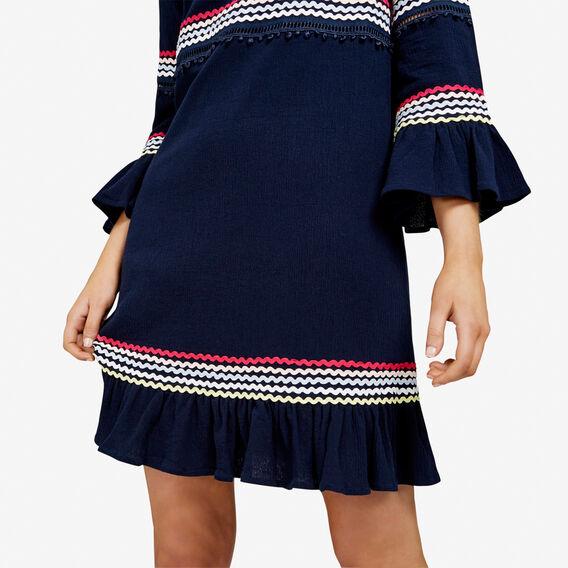 LATTUS TRIM BABYDOLL DRESS  NAVY/MULTI  hi-res