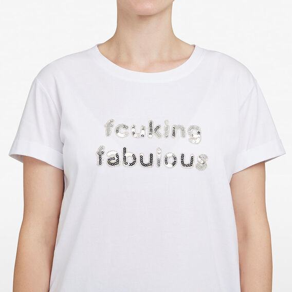 FCUKING FABULOUS TEE  WHITE/SILVER  hi-res