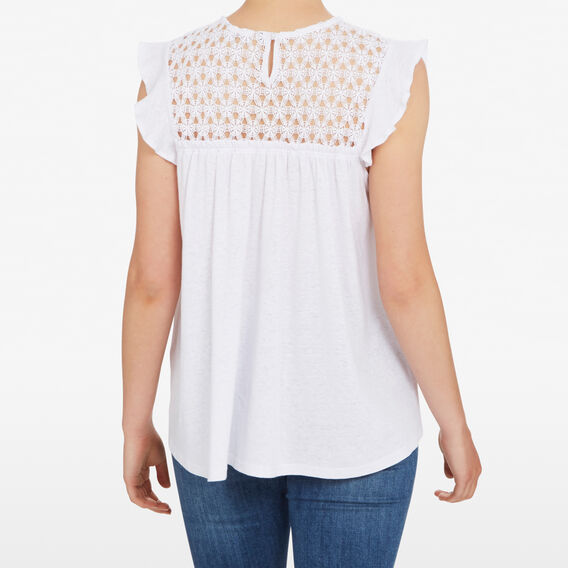 FLOWER LACE TEE  SUMMER WHITE  hi-res
