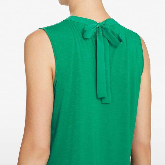 SPLICED HIGH NECK TANK  LEAF GREEN  hi-res