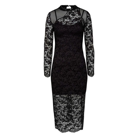 MILLIE LACE DRESS  BLACK  hi-res