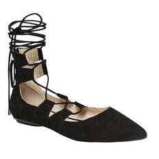 WRAPPED ANKLE FLAT  BLACK  hi-res