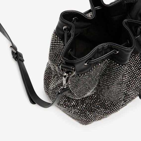 SPARKLE BUCKET BAG  BLACK  hi-res
