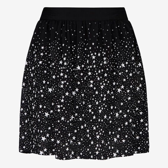 GAZING STAR FLIPPY SKIRT  BLACK/SUMMER WHITE  hi-res