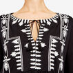 AZTEC EMBROIDERED TEE  BLACK/SUMMER WHITE  hi-res