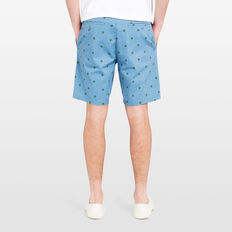 TRUTLE PRINTED SHORT  OCEAN BLUE  hi-res