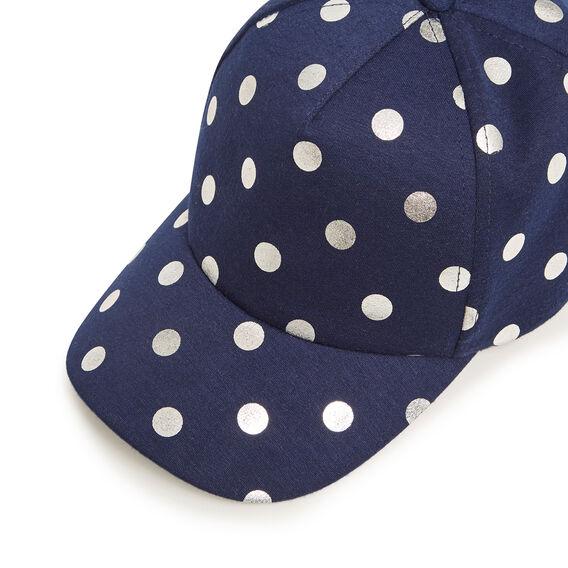 FOIL SPOT CAP  NAVY/SILVER  hi-res
