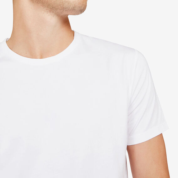 CLASSIC CREW NECK T-SHIRT  WHITE  hi-res