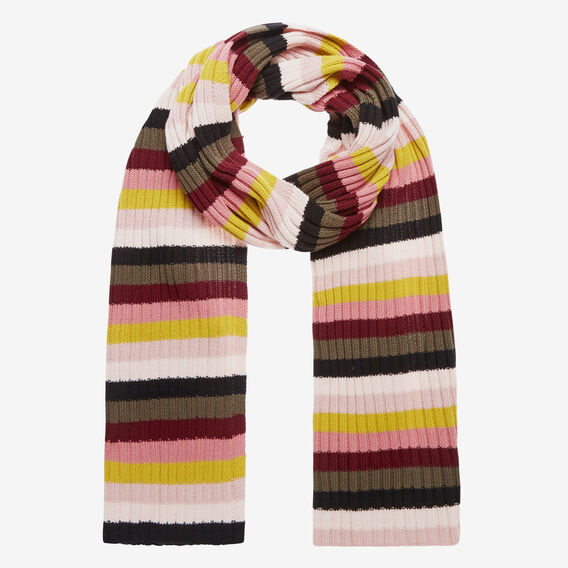 RAINBOW STRIPE KNIT SCARF  MULTI  hi-res