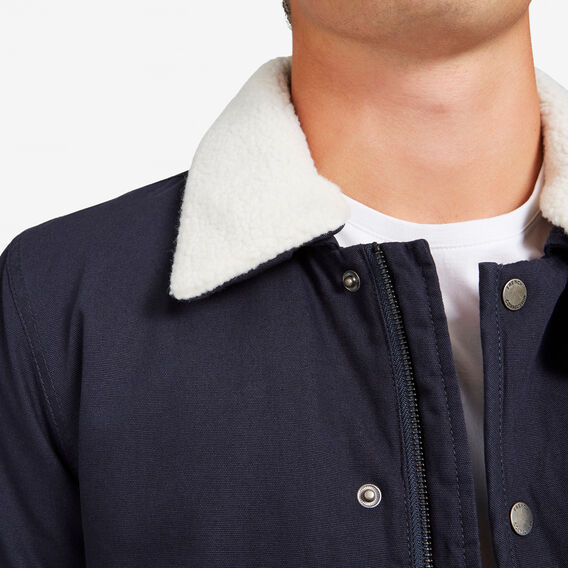 SHEARLING COLLAR JACKET  NAVY  hi-res