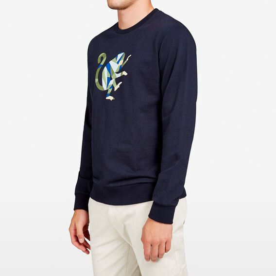 GEO MONEY CREW NECK SWEAT  MARINE BLUE  hi-res