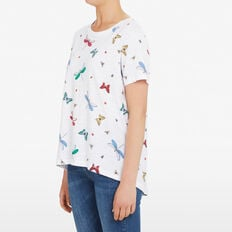 FLYING INSECT TEE  SUMMER WHITE/MULTI  hi-res