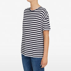 STRIPE RELAXED TEE  NOCTURNAL/SUMMER WHI  hi-res