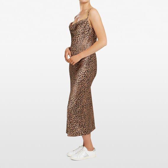 ANIMAL PRINT SLIP DRESS  MULTI  hi-res