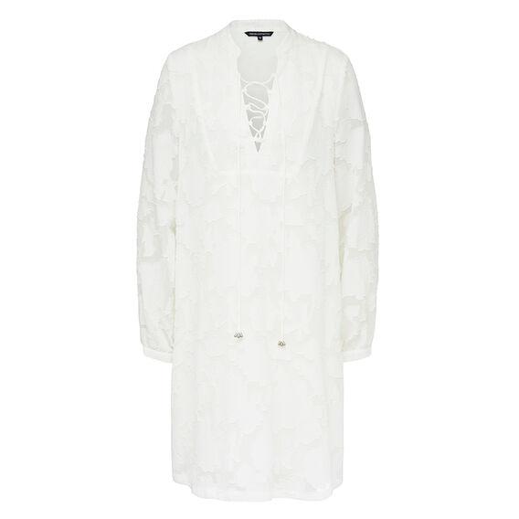 LACE UP SHIRT DRESS    hi-res