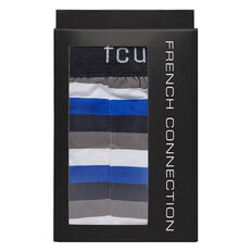 COTTON 1PK TRUNK  MARINE/ STRIPES  hi-res