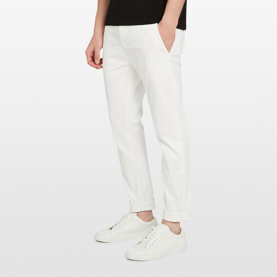SLIM FIT STRETCH CHINO PANT  WHITE  hi-res