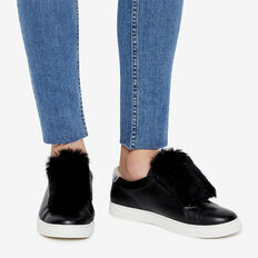 FAUX FUR SNEAKER ACCESSORY  BLACK  hi-res