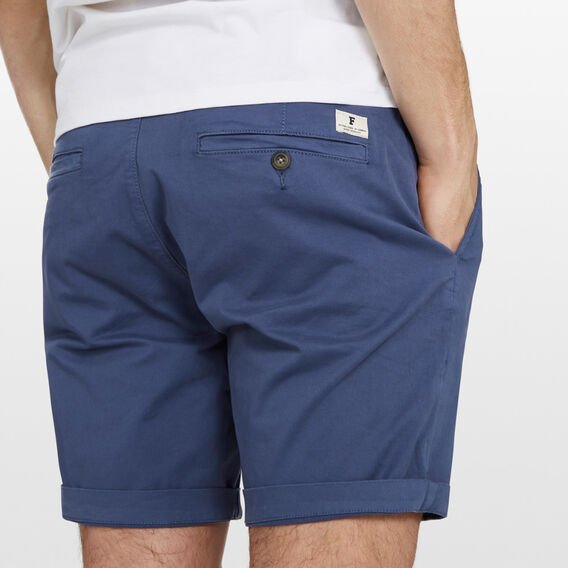CHARLIE STRETCH CHINO SHORT  INDIGO  hi-res