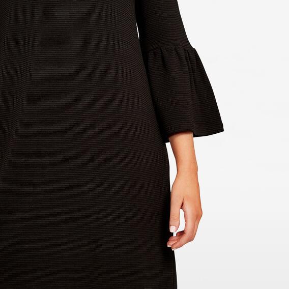 BELL SLEEVE RIB DRESS  BLACK  hi-res