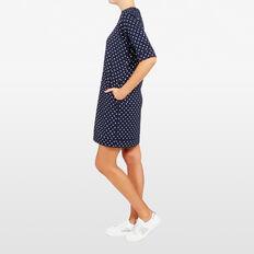 FOIL SPOT SWEATER DRESS  NOCTURNAL/SILVER  hi-res
