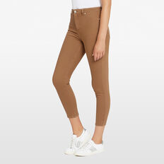 ANTIQUE DYE CROPPED JEAN  TOFFEE  hi-res