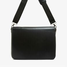 SAFARI LEATHER LOOK MESSENGER  BLACK  hi-res