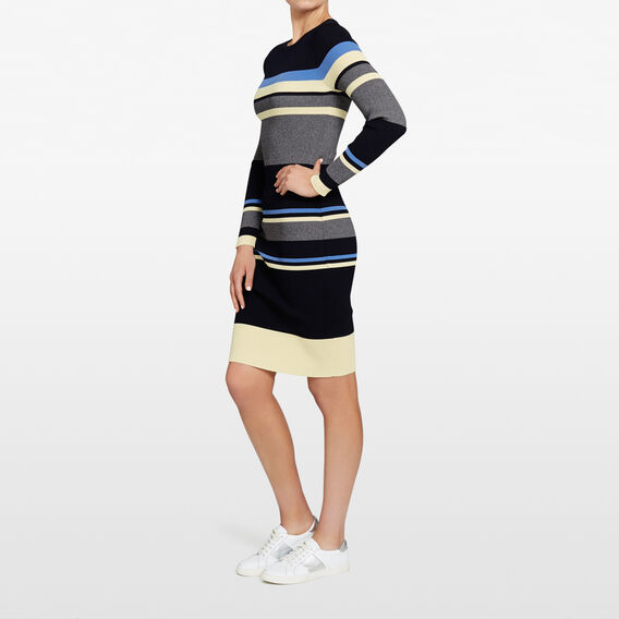 COAST STRIPE BODYCON DRESS  NOCTURNAL/MULTI  hi-res
