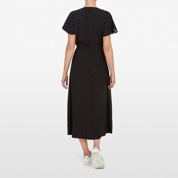MICRO SPOT MAXI WRAP DRESS  BLACK/SUMMER WHITE  hi-res